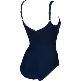 arena Jewel Low C Cup One Piece Swimsuit Damen navy/turquoise